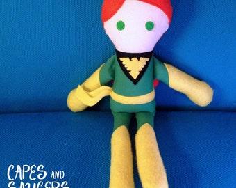 Soft, Stuffed, Phoenix Ragdoll - Super Hero, Plush, Toy, Rag, Doll, Comic, Phoenix, X-Men, Jean, Grey