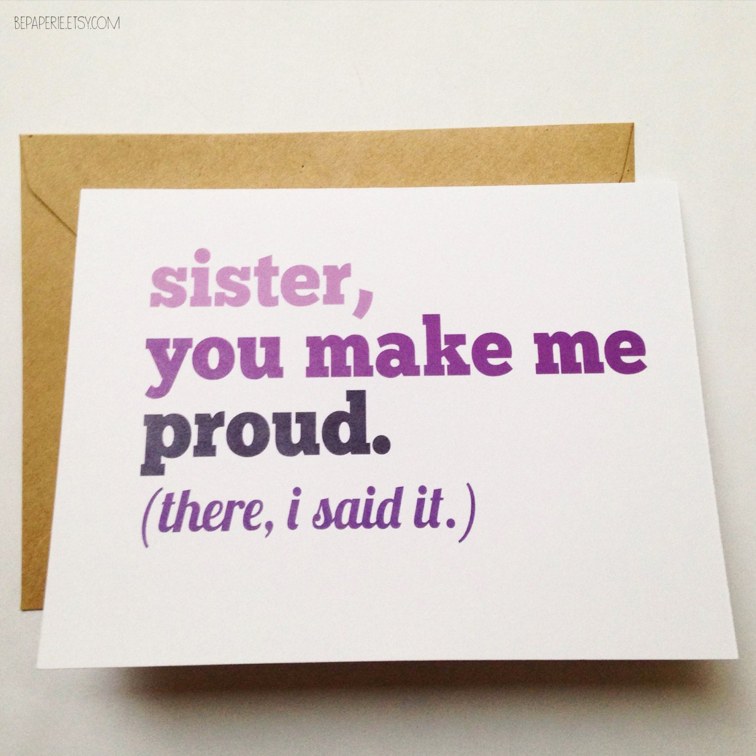 Sister Card Sister Birthday Card Funny Sister Card Card
