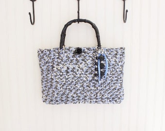 Blue Multi Crochet Handmade Handbag