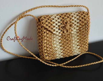 Bag,Macrame,Weaving ,Basket, Rope,Handmade,Birch and Ivory color, ,Handbag,Tote,Natural,Women's bag.Purse,Gift ,Shoulder bag,Crossbody bag