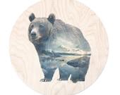 Bear - Faunascapes Plywood Print