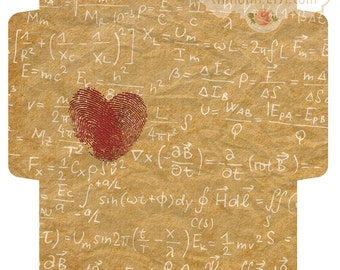 FORMULA of LOVE - Printable Download Digital Collage Sheet Big Envelope  - Print and Cut