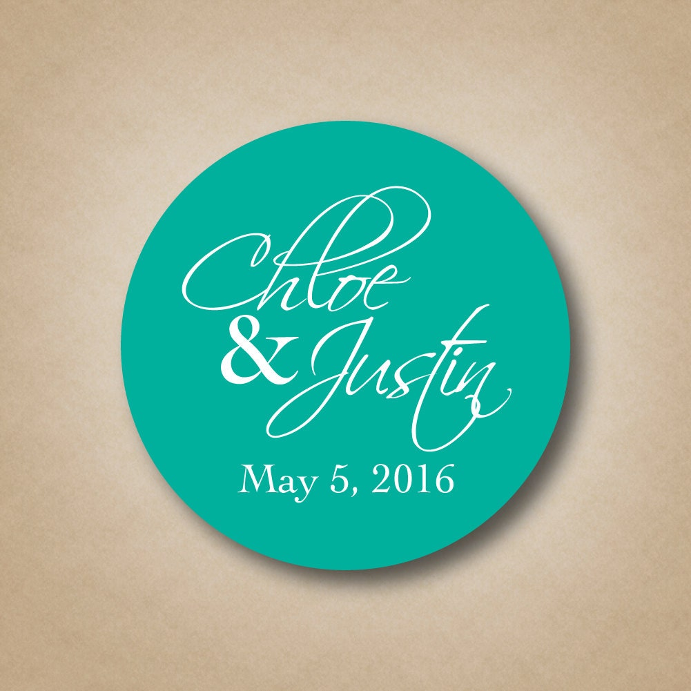 Wedding stickers wedding favor stickers names by for Stickers for wedding favors