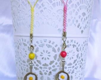 Food Jewellery Egg Cell Phone Decoration, Dangle, Handbag Charm, or Keyring. Kawaii Gift