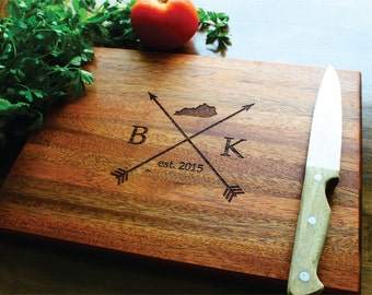 State Cutting Board, Husband Gift, Father, Boyfriend Gift, Coworker, Mom, Hostess, Personalized Mens, Gift For Her, Arrows, Graduation Gift