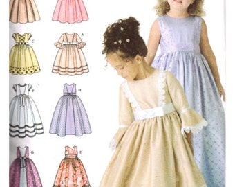 Simplicity Sewing Pattern 4337 Girl's Special Occasion Dress with length and trim variations  Size:  BB 5-6-7-8  Uncut