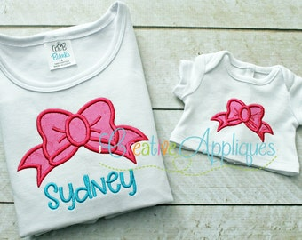 Bow Applique Digital Machine Embroidery Design 5 Sizes
