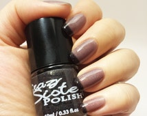 Why So Glum- Black to Silver Gray Heat Sensitive Thermal Holographic Glitter Nail Polish *Added Scent Optional*