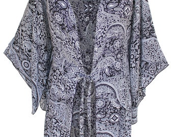 Women's Plus Size Tunic Cardigan Clothing, Kimono Sleeve Style, One Plus Size (1X-3X), Kimono Fit for Full Figure Women
