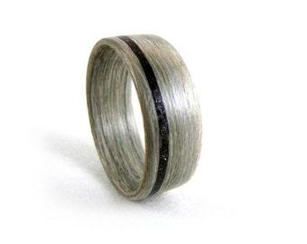 Meteorite Ring, Meteorite Wedding Band, Men's Meteorite Ring, Women's Meteorite Ring, Wood Meteorite Ring, Bentwood Ring, Grand Junction Guy