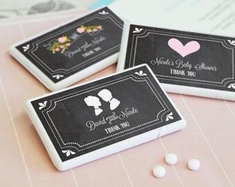 Chalkboard Favors - Chalkboard Wedding Favors - Vintage Wedding Favors - Rustic Wedding Favors MINT BOXES (EB2211CBW) - 12| pcs