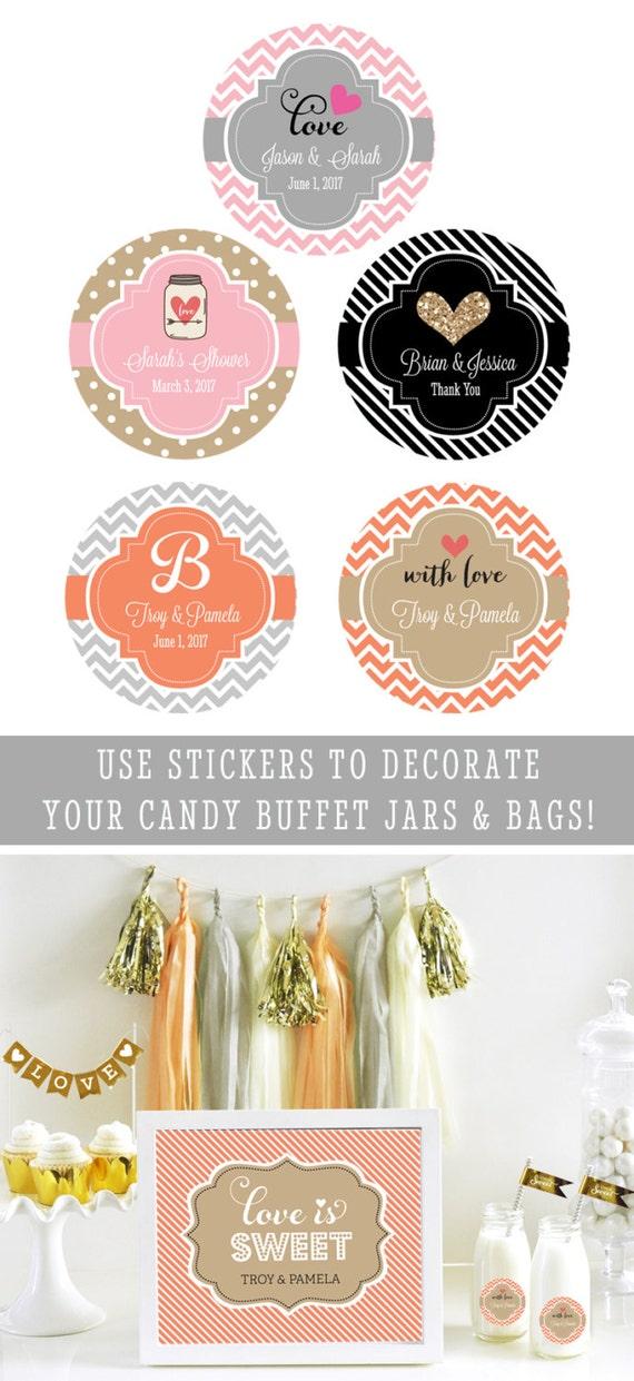 Wedding Label Stickers Personalized Labels Wedding Stickers Round