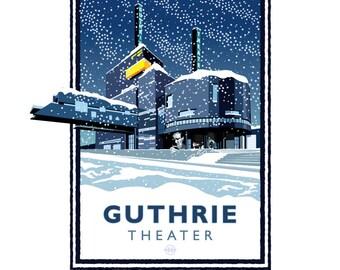 Landmark Series   Guthrie Theater Winter, Minneapolis, MN by Mark Herman