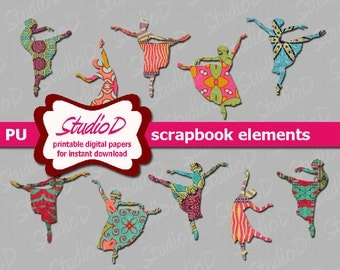 Dancer clipart, Digital scrapbook elements, digiscrap elements ballet clipart, ballerina clipart, digiital images, transparent png