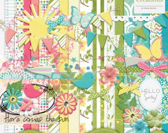 Spring Fling - Digital Scrapbook Kit