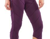 YOGA PIXIE LEGGINGS psy trance leggings purple festival pixie leggings leaf leggings yoga clothing psytrance boho hippy leggings