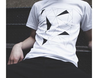 Koon Clothing - Series 201 Geometric Graphic White T-shirt