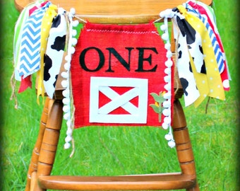 COUNTY FAIR Birthday Banner, Farm, Highchair Garland, First Birthday Party, Old Mcdonald, Smash cake, County Fair, John Deere, Barnyard