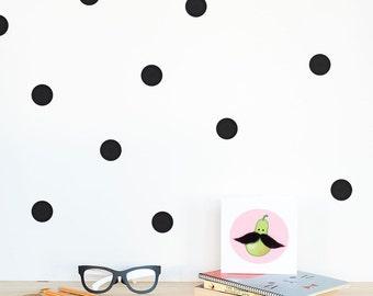 Polka dots Wall decal / Wall Dots Home decor / Polka dot wall Nursery decor / Pink Mint Lavender Yellow Black White Dots Vinyl Sticker