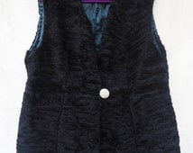Women faux fur waistcoat, Black faux fur, woman fur waistcoat, Fake fur waistcoat, plus size, black waistcoat,Christmas gifts, gifts for her