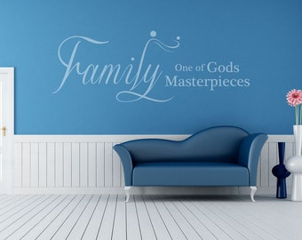 Religious Wall Art | Family - One of Gods Masterpieces