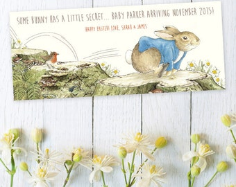 Easter Pregnancy Announcement  - Peter Rabbit - Set of 12