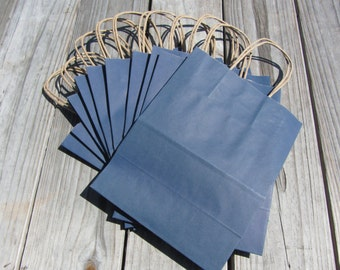 20 Pack Navy Blue Kraft Gift Bags/Wedding Welcome Bags