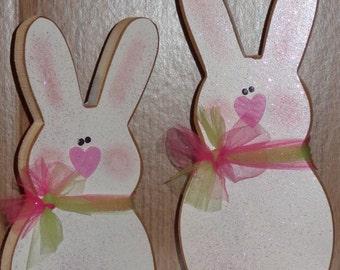 Easter Decor, Spring Decor, Bunny, set of 2