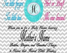 Gender Reveal Invitations (Several Options Available)