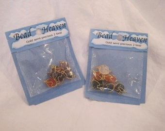10K Gold Plated Wire Wrapped Semi Precious Stones ready for crafting - beading supplies
