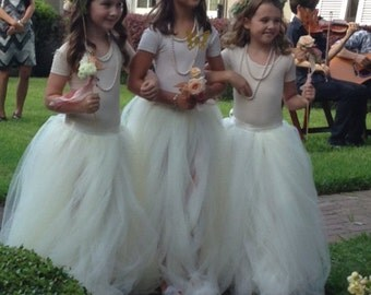 Tulle flower girl skirt