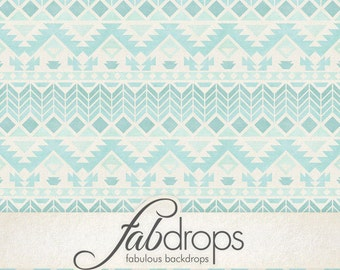 Tribal Pattern Photography Backdrop Blue Tone (FD2197)