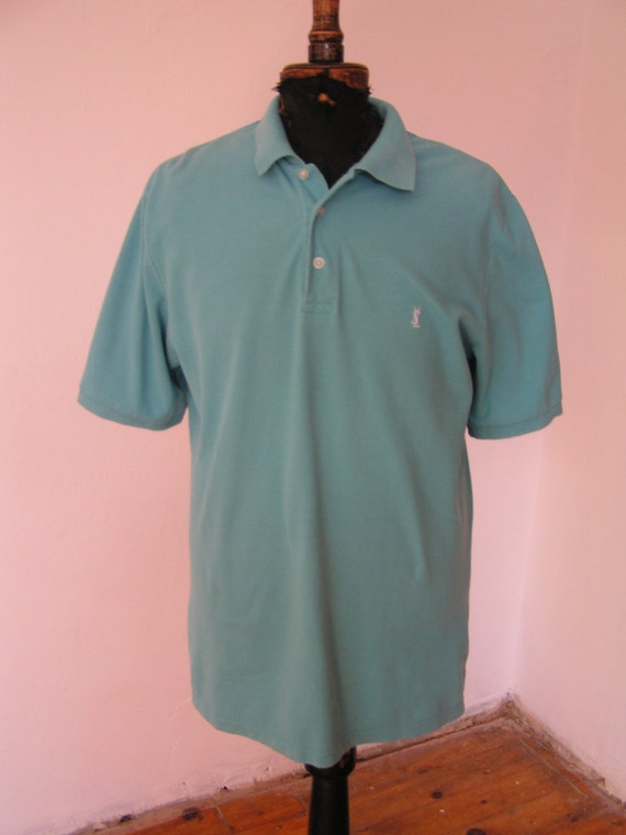Polo shirt by yves saint laurent blue casual by banialuka for Yves saint laurent white t shirt