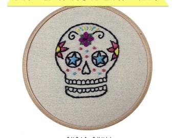 Sugar Skull DIY Embroidery Kit