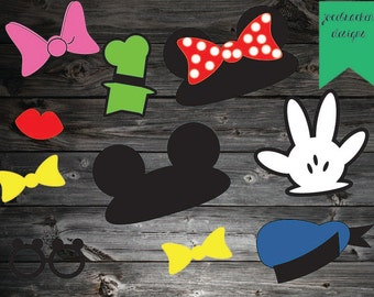 INSTANT DOWNLOAD: Classic Disney Photobooth Props