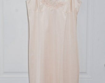 Vintage Lorraine Peach Slip Dress