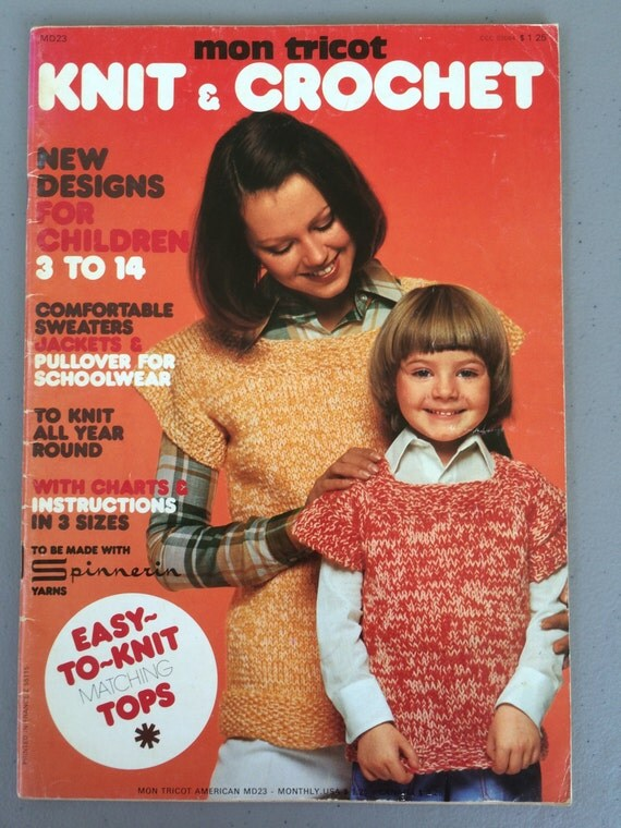 Knitting Magazines List : Mon tricot knit crochet magazine vintage hand knitting and