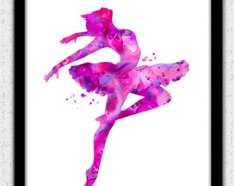 image about Ballerina Silhouette Printable known as Printable Purple Ballerina Silhouette - 0425