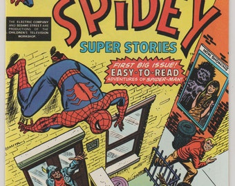 Spidey Super Stories; Vol 1, 1 Bronze Age Comic Book.  NM-.  October 1974.  Marvel Comics