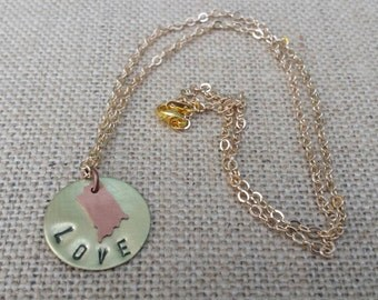 State Love Necklace (Custom for any state!)
