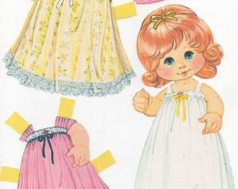 Vintage Paper Doll- Marissa Rosebud is her name- Dress her up or use her for craft!