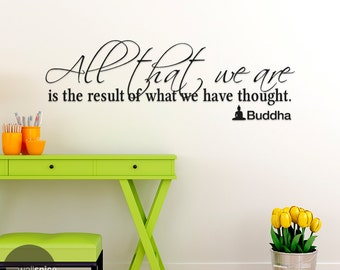 All That We Are Buddha Quote Vinyl Wall Decal Sticker