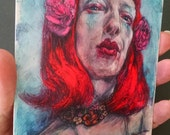 """Dye-infused metal 4""""x6"""" print of Incognito Witch Selfie: Ginger Anxiety"""