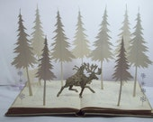 Christmas decoration Christmas book art sculpture fairytale Christmas gift unique book lover gift home decor available now
