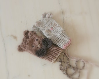 KNITTING PATTERN thumbless baby bear or mouse mitts Fabian (newborn and baby sizes)