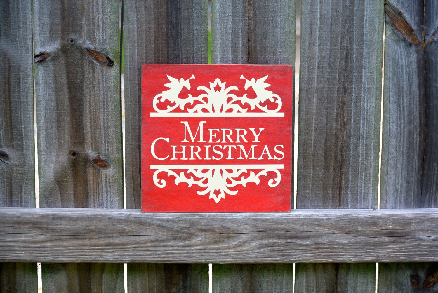 Christmas decor merry christmas sign rustic