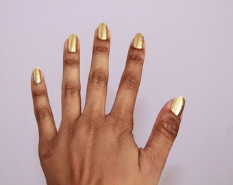 SALE! Metallic Gold Nail Foils / Nail Wraps