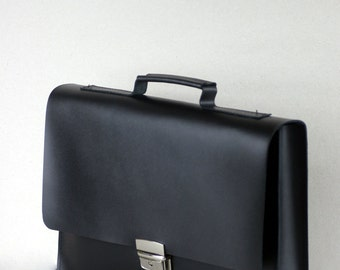 "GENUINE LEATHER 13"" MACBOOK Briefcase, laptop bag, case"
