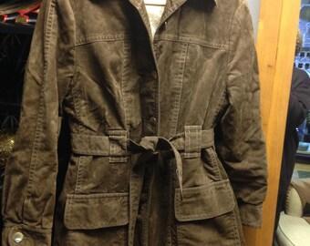 Fun & Functional Vintage Faux Suede Coat