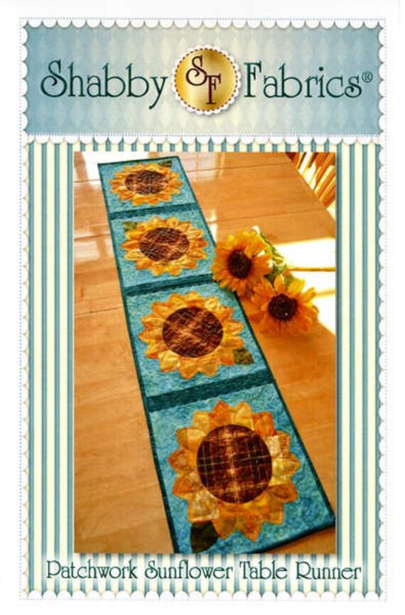 Sunflower Table Runner Pattern, Shabby Fabrics 48634 Patchwork Summer Table  Runner, Summer Decor,